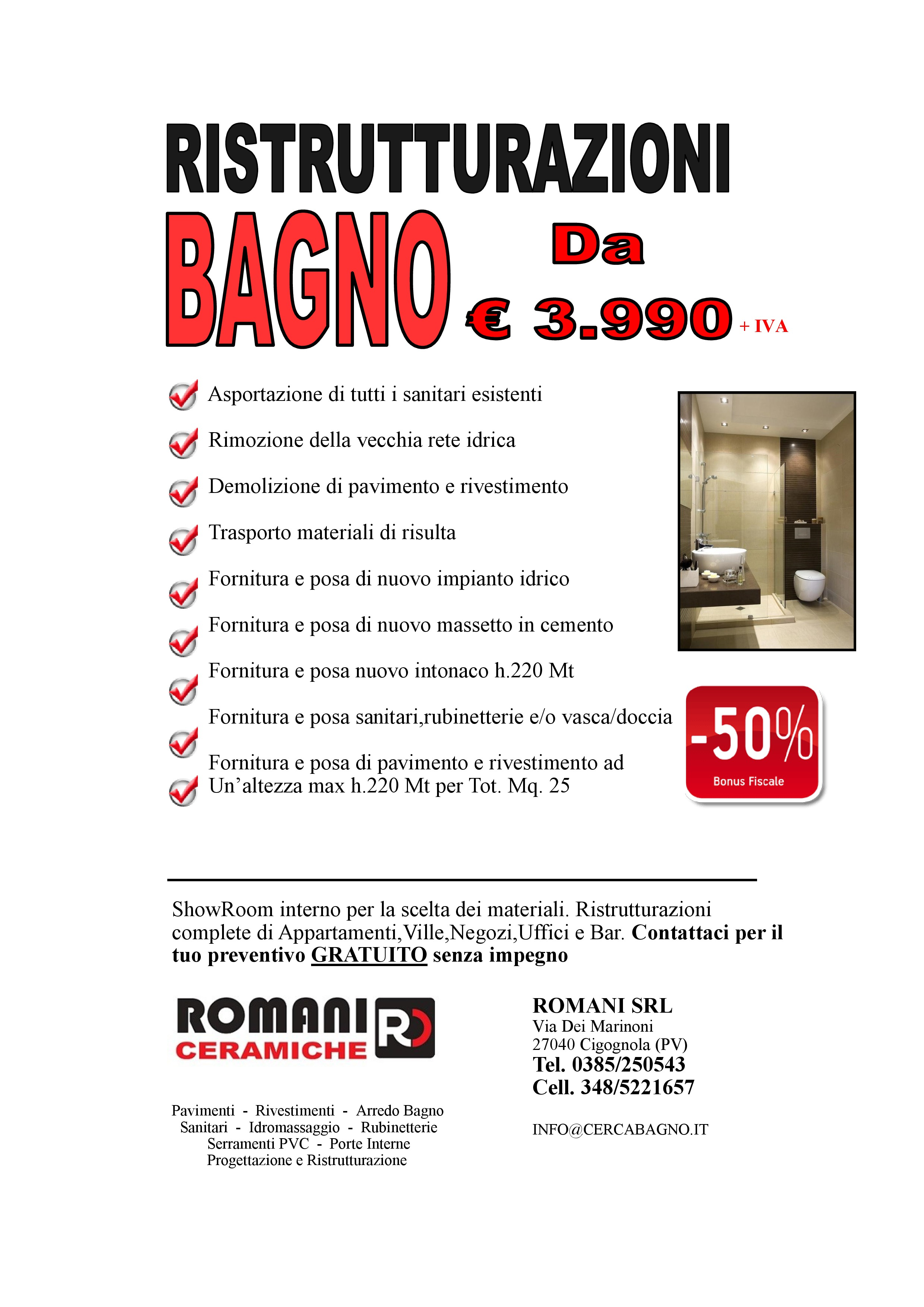 Costo di un bagno nuovo elegant quanto costa rifare limpianto idraulico a roma pianificare il - Costo bagno nuovo ...
